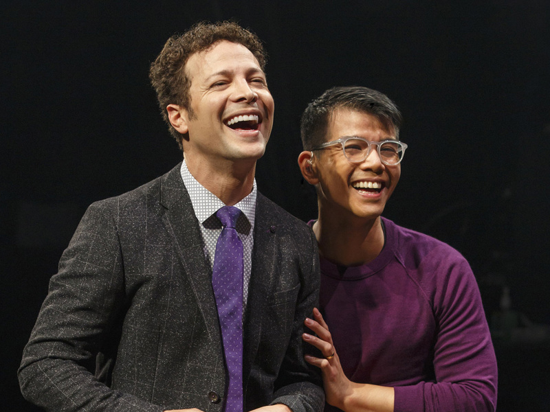 Justin Guarini & Telly Leung in 'In Transit' (Photo: Joan Marcus)