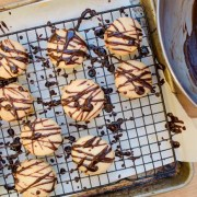 Garabatos cookies just drizzled in warm chocolate.