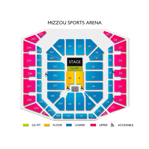 Arena Mizzou Address