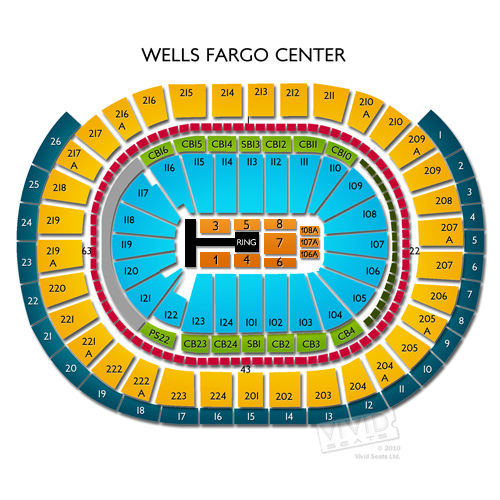 Wells Fargo Center Seating Chart With Seat Numbers