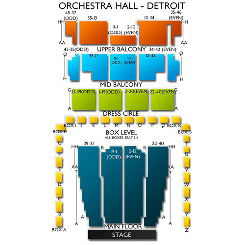Detroit Orchestra Hall Seating Map Brokeasshome Com