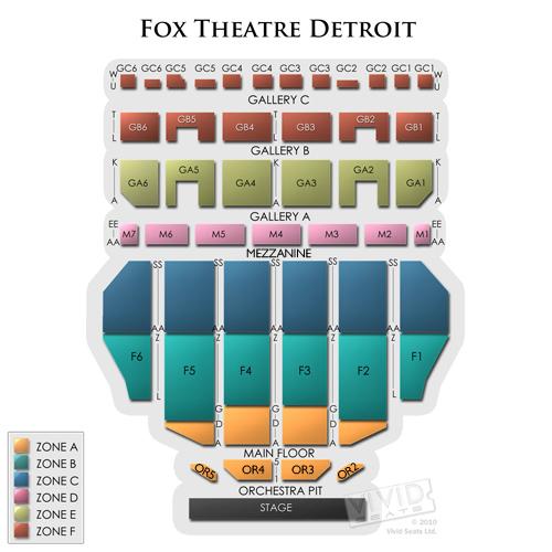 Fox Theater Mi: Fox Theater Detroit Seating Chart Suites