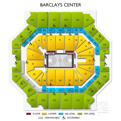 Barclay center concert seating chart for Barclays floor plan