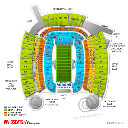 Heinz field seating chart with seat numbers brokeasshome com