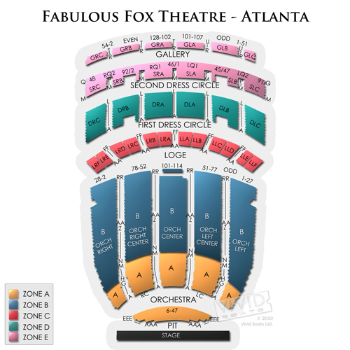 Fabulous Fox Theatre Atlanta Seating Views