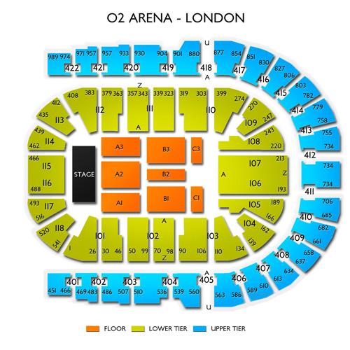Plan Kylie Seating Arena O2