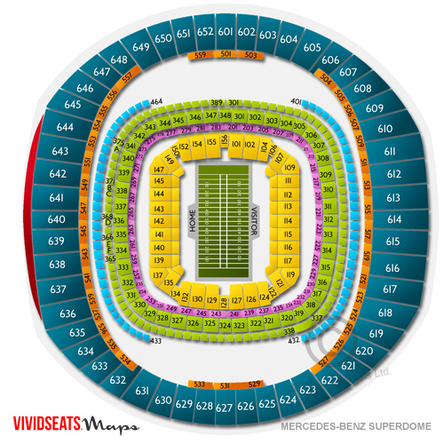 Saints superdome seating chart for Mercedes benz dome atlanta seating chart