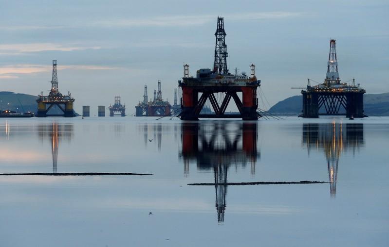 FILE PHOTO: Drilling rigs in the Cromarty Firth near Invergordon, Scotland