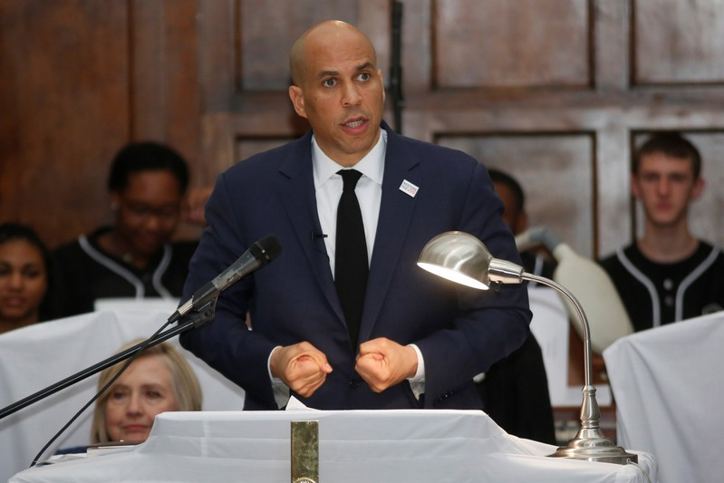 Democratic 2020 U.S. presidential candidate and U.S. Senator Cory Booker (D-NJ) gives the keynote speech at Brown Chapel AME Church in Selma