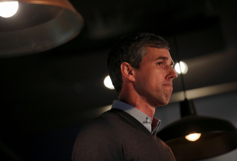 Democratic 2020 presidential candidate Beto O'Rourke speaks with supporters during a three day road trip across Iowa