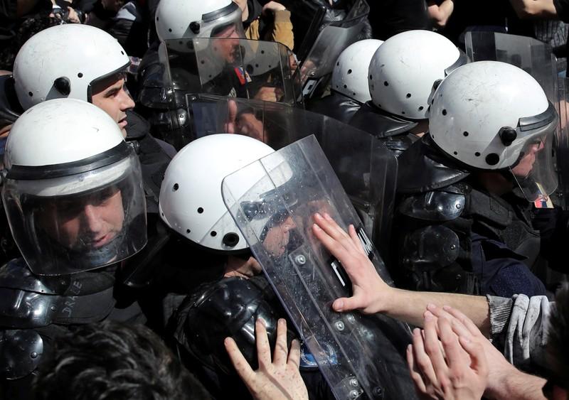 Protest against Serbian President Vucic in Belgrade