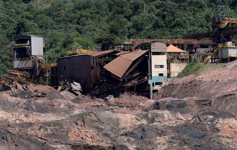 FILE PHOTO: FILE PHOTO: A view of a collapsed tailings dam owned by Brazilian mining company Vale SA, in Brumadinho
