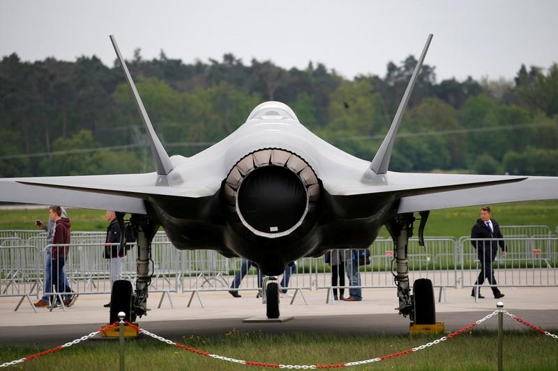 FILE PHOTO: A Lockheed Martin F-35 aircraft at the ILA Air Show in Berlin