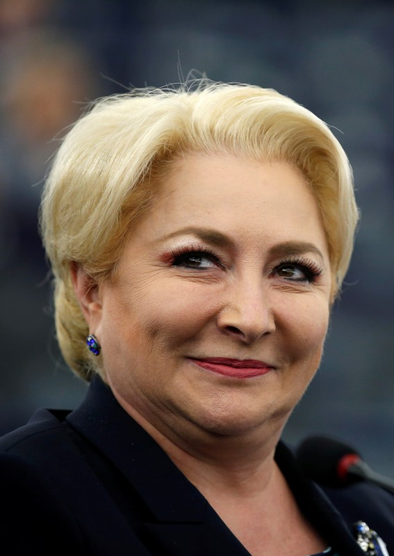 FILE PHOTO: Romanian Prime Minister Dancila attends a debate at the European Parliament in Strasbourg