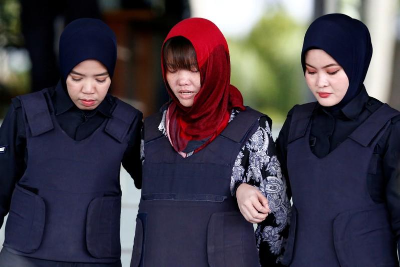 Vietnamese Doan Thi Huong leaves the Shah Alam High Court on the outskirts of Kuala Lumpur