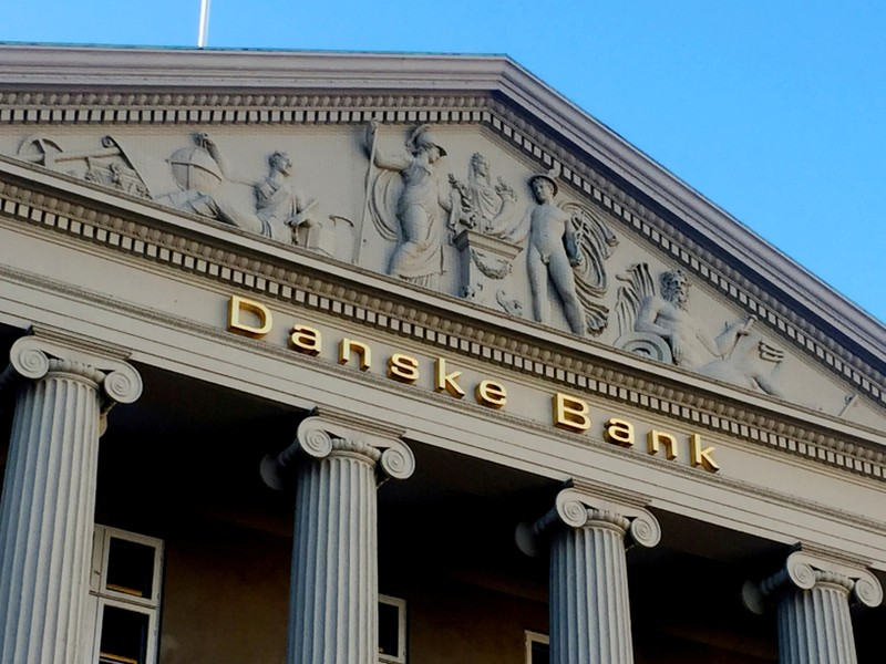 FILE PHOTO: General view of the Danske Bank building in Copenhagen