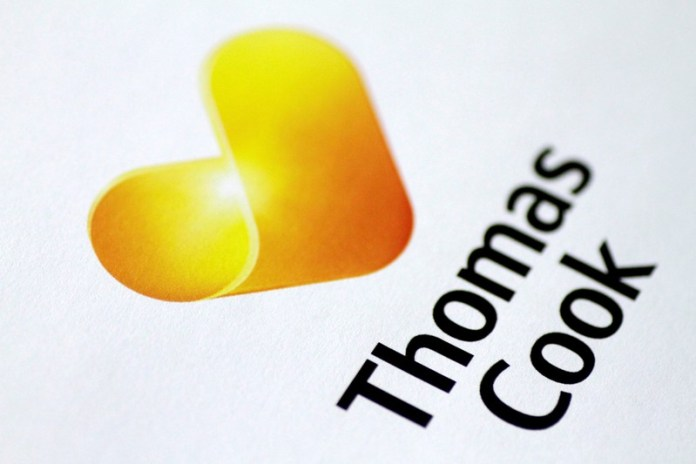FILE PHOTO: Illustration photo of a Thomas Cook logo