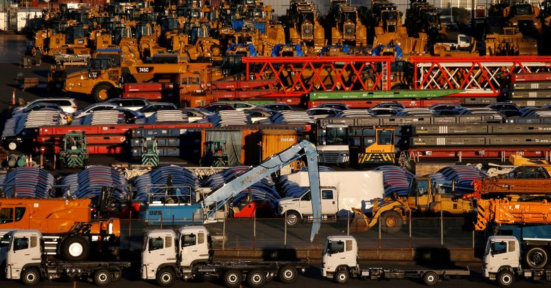 Japan's exports, machinery orders seen falling as virus risks develop: Reuters poll