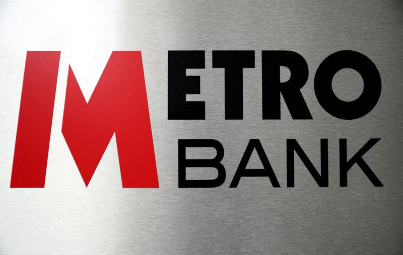 FILE PHOTO: Signage is seen outside of a Metro Bank in London