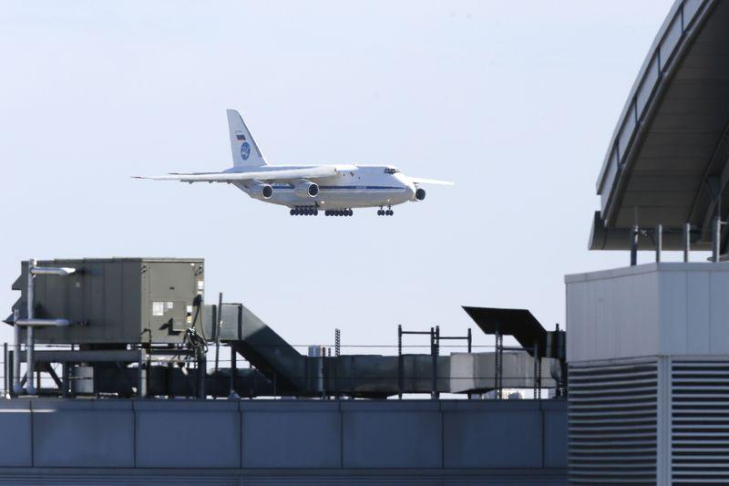 Russian plane with coronavirus medical gear lands in U.S. after Trump-Putin call