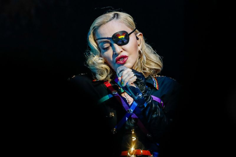 Madonna performs at the 2019 Pride Island concert during New York City Pride in New York City