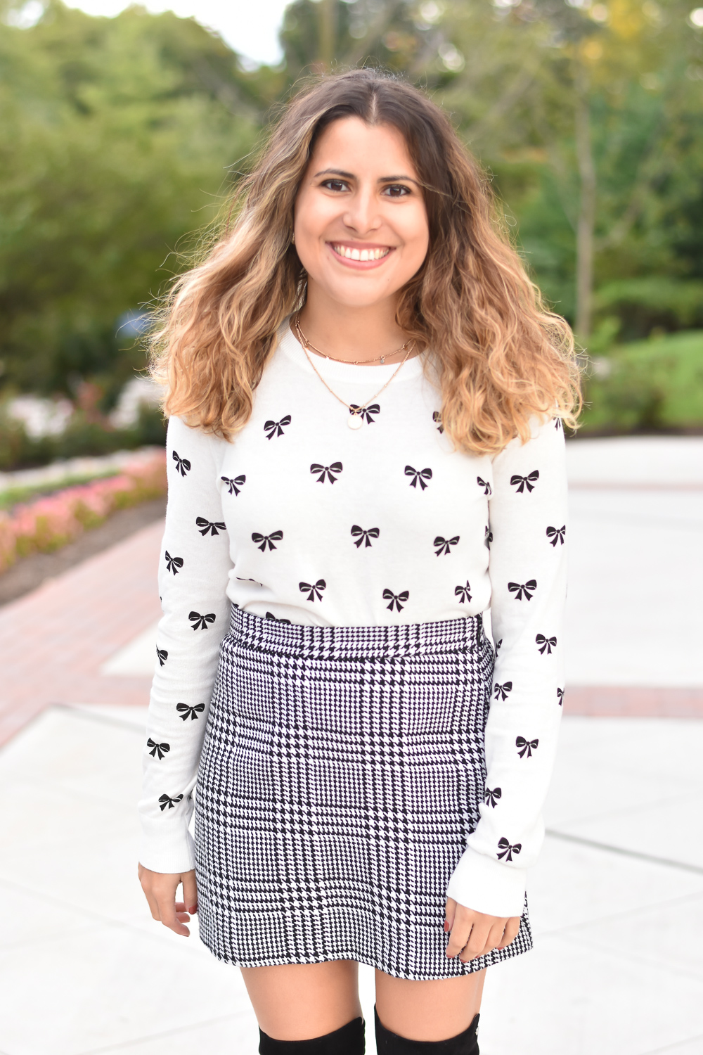Bow Print Top