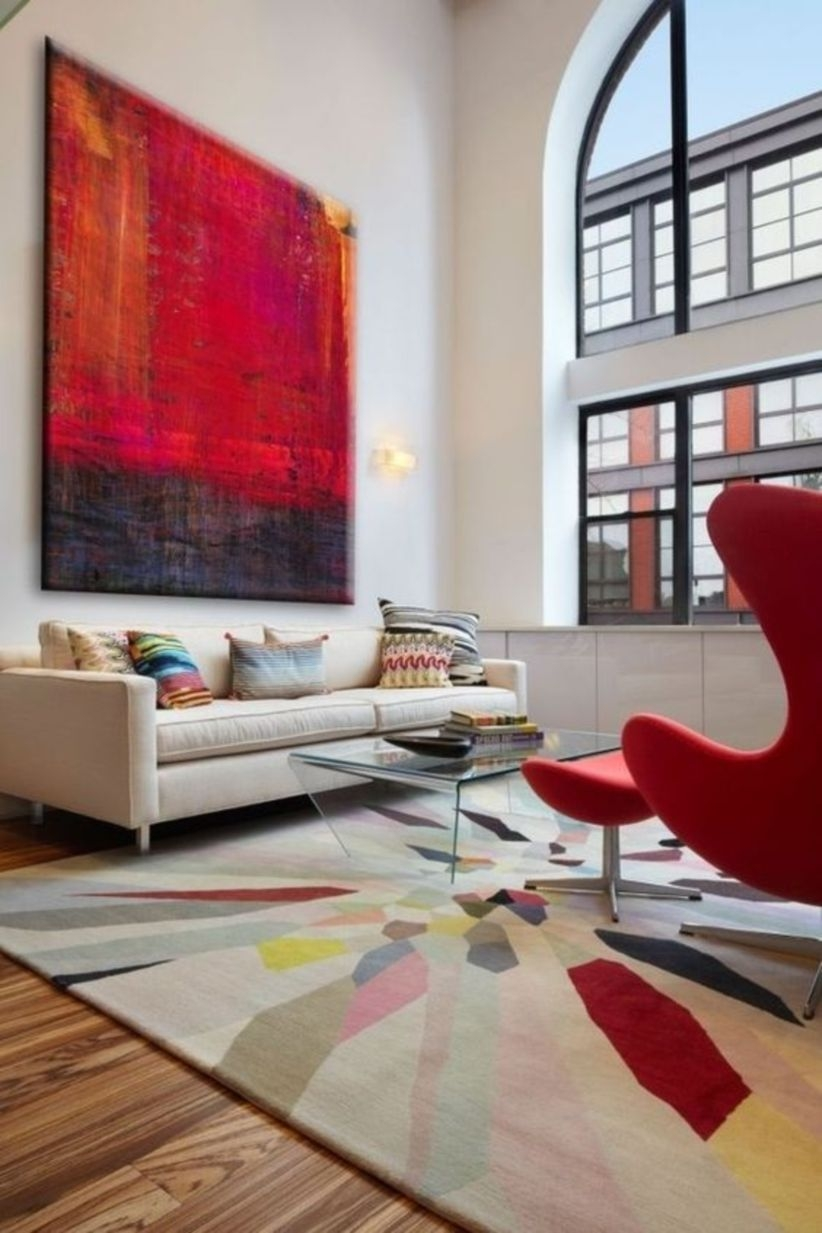 Decorating with red accents in wall interior