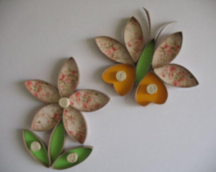 Diy paper roll wall art to beautify your home 23