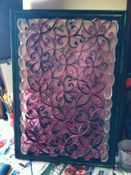 Diy paper roll wall art to beautify your home 24