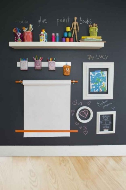 Diy paper roll wall art to beautify your home 49