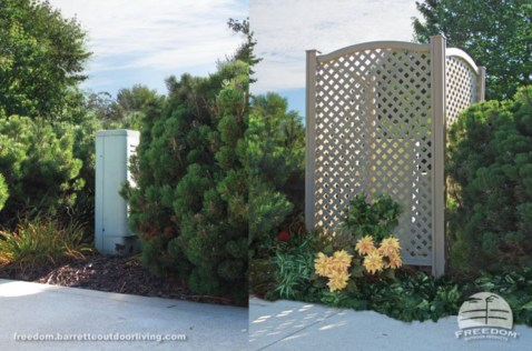 Hide your outdoor eyeshore project 13