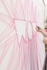Make your own string art that look artsy for your space 27