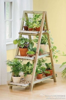Gorgeous diy ladder-style herb garden 16