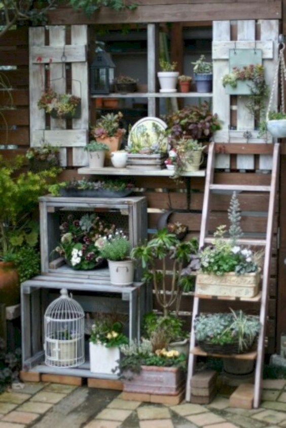 Gorgeous diy ladder-style herb garden 24