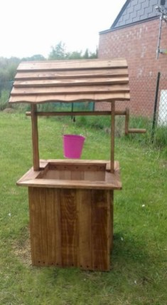 Best diy projects with pallet for your garden 24