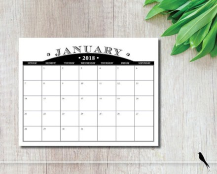 Modern wall calendars to get you organized for 2018 26