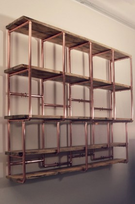 Stunning ideas to use copper pipes for your home decor 33