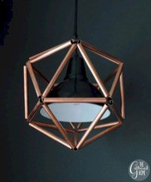Stunning ideas to use copper pipes for your home decor 50