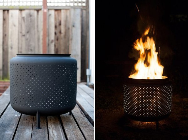 The upcycled fire pit
