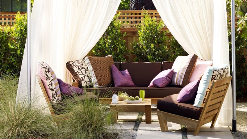 Romantic back yard cabana