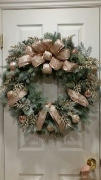 On a budget diy christmas wreath to deck out your door 15