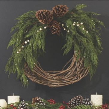 On a budget diy christmas wreath to deck out your door 16