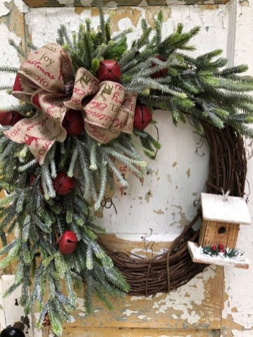 On a budget diy christmas wreath to deck out your door 25