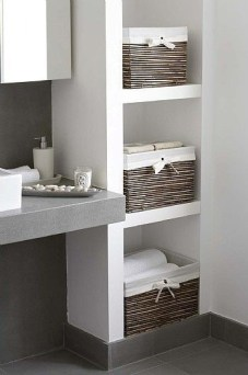 Built-in bathroom shelf and storage ideas to keep your bathroom organized 14