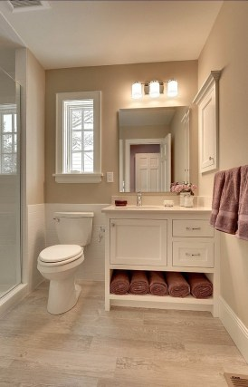 Built-in bathroom shelf and storage ideas to keep your bathroom organized 24