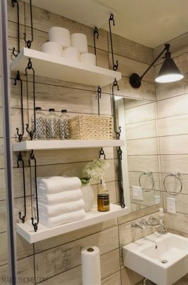 Built-in bathroom shelf and storage ideas to keep your bathroom organized 44