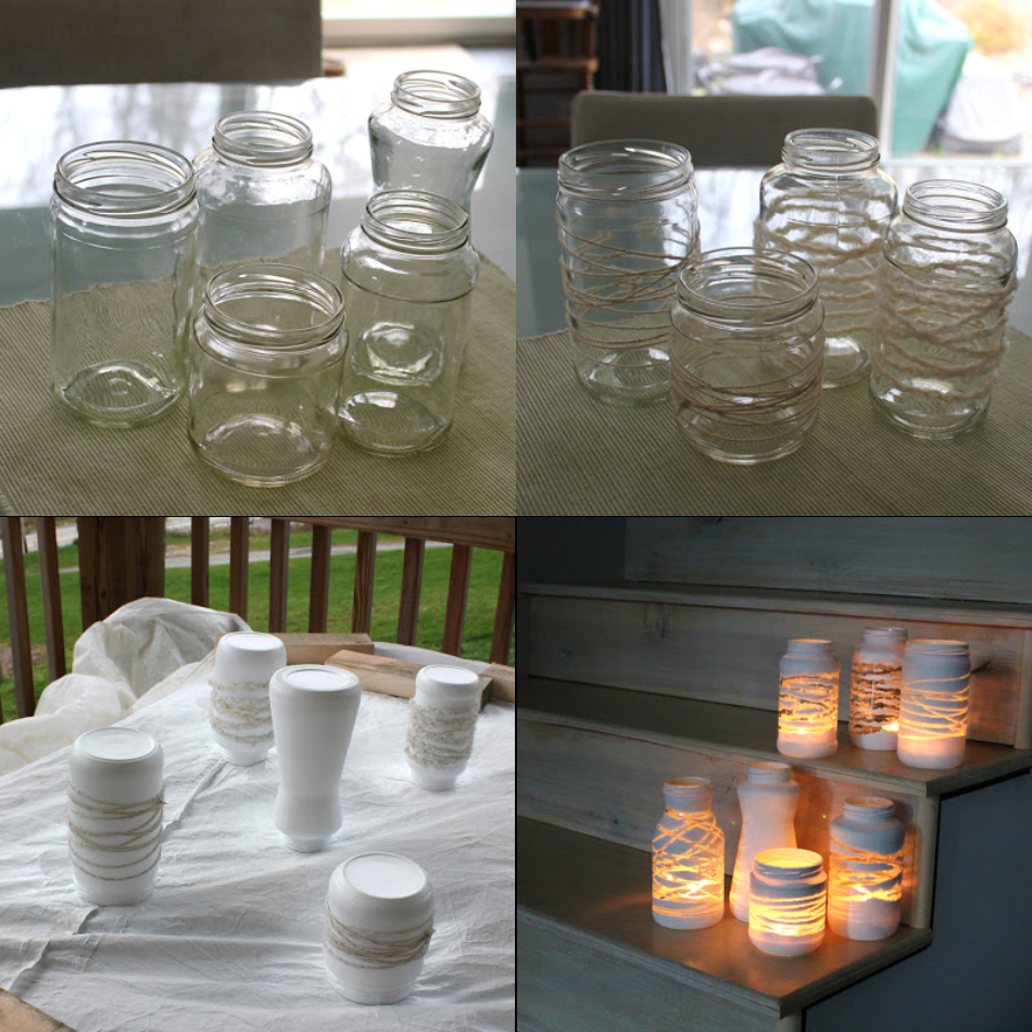 Amazing And Easy DIY With Mason Jars To Create A Beautiful Lantern With Unique Pattern From Yarn And String