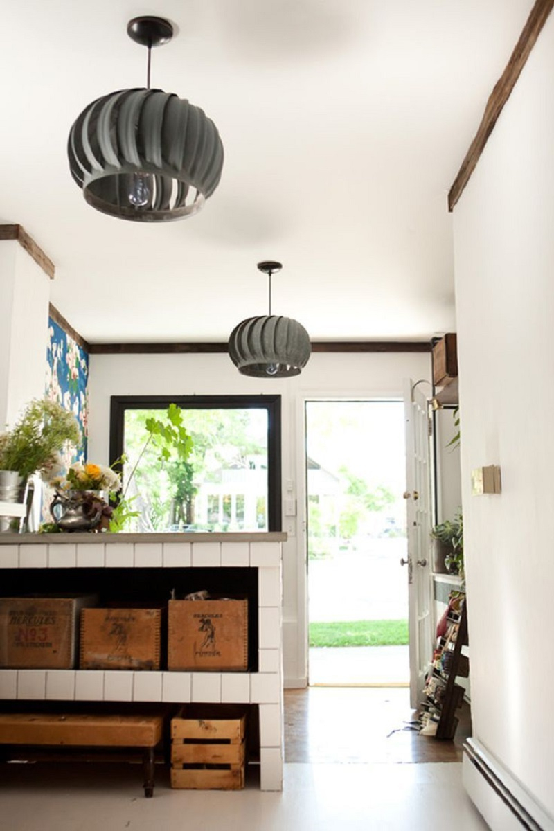 Turbine pendant light Undoubtedly Gorgeous DIY Pendant Light Fixtures From Upcycle Items