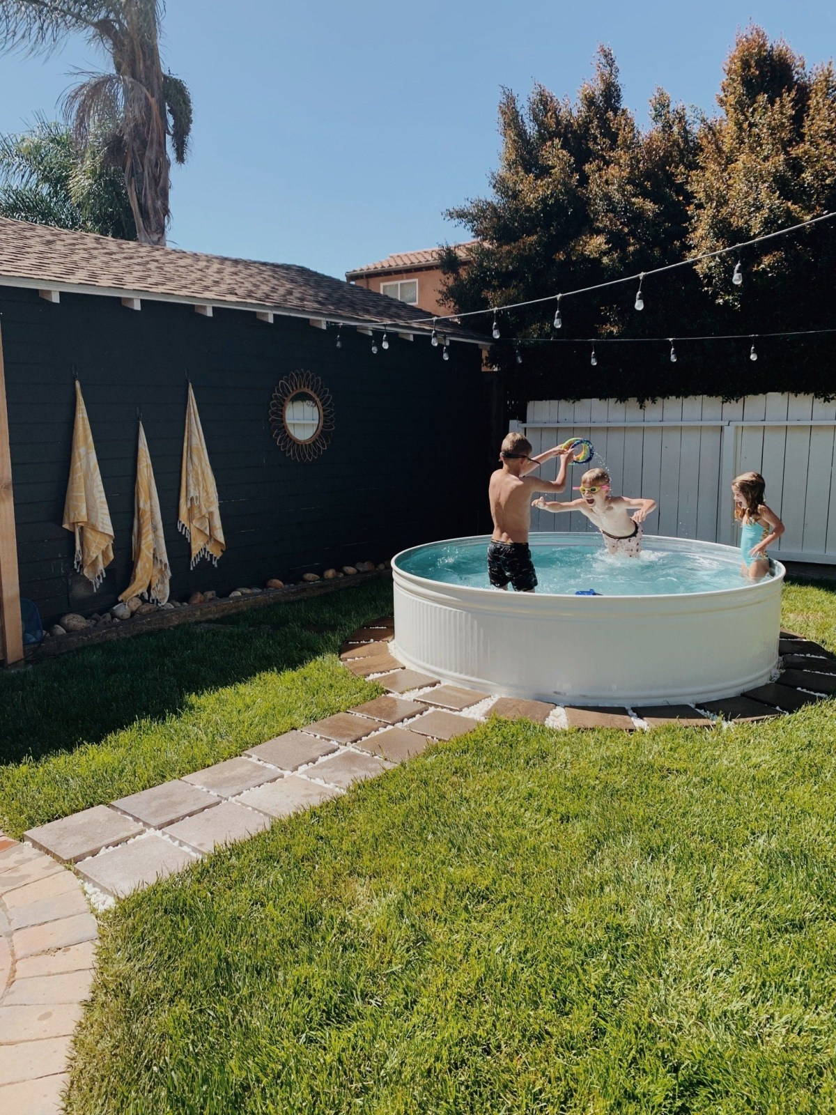White tank pool DIY Swimming Pool Ideas To Make Your Summer Better With Relax And Unwind