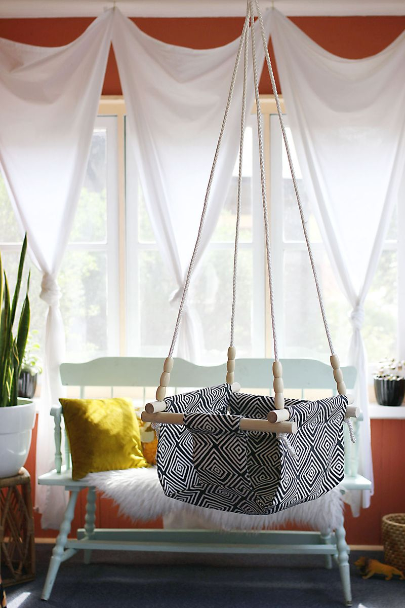 Baby hanging chair Epic DIY Hanging Chair Projects To Complete Your Home Presentation